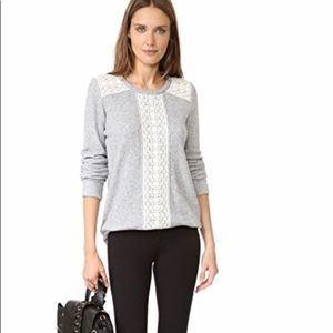 Soft Joie Atlas sweater in grey French terry